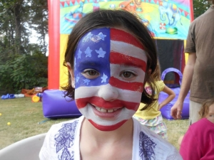 July 4th theme Face Painting Asheville